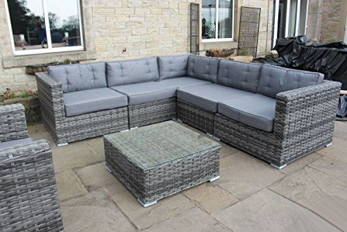 Grey Rattan Garden Furniture Uk Luxury grey rattan corner sofa set conservatory or outdoor garden luxury grey rattan corner sofa set conservatory or outdoor garden furniture amazon garden outdoors workwithnaturefo