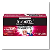 Airborne Very Berry Effervescent Tablets, 36 count - 1000mg of Vitamin C - Immune Support Supplement