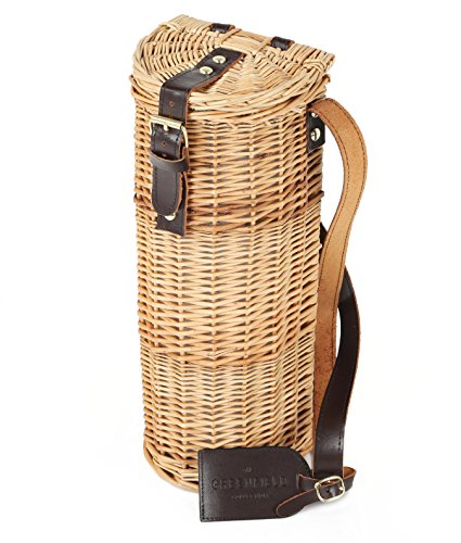 Greenfield Collection Deluxe Wicker Bottle Cooler