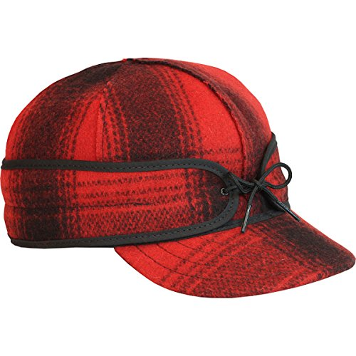 Stormy Kromer Men's Original Wool Cap,Red,7.125