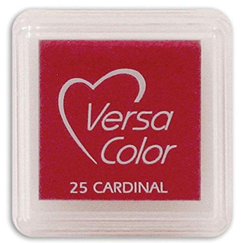 Tsukineko Small-Size VersaColor Ultimate Pigment Inkpad, Cardinal