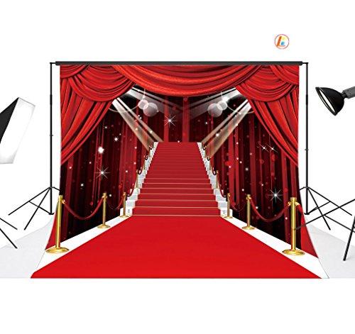LB 7X5ft Red Carpet Vinyl Photography Backdrop Customized Photo Background Studio Prop VD442]()