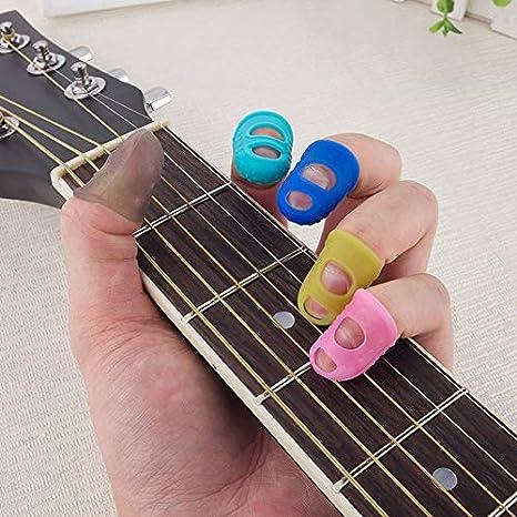 Guitarra Dedos Silicona Dedos zurdos Funda protectora Principiante ...