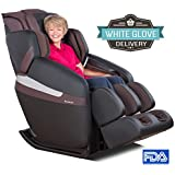 RELAXONCHAIR [MK-CLASSIC] Full Body Zero Gravity Shiatsu Massage Chair with Built-In Heat and Air Massage System (Brown - WG)