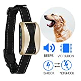 Bark Collar Ocgia Rechargeable Dog Barking Control Training Collars Beep Vibration Humane No Harm Shock with 7 Sensitivity Anti Bark Deterrent for Small Medium Large Dogs