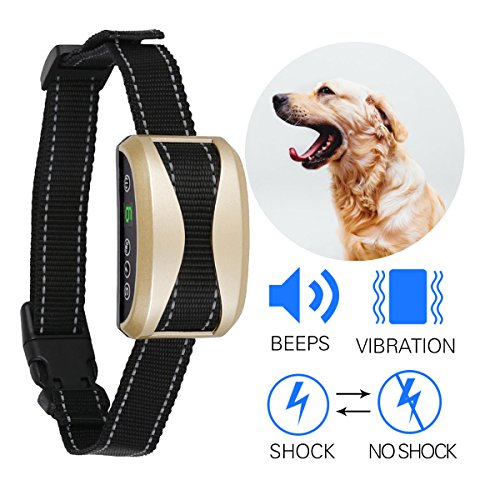 Bark Collar Ocgia Rechargeable Dog Barking Control Training Collars Beep Vibration Humane No Harm Shock with 7 Sensitivity Anti Bark Deterrent for Small Medium Large Dogs by Ocgia