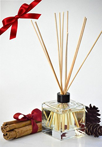 MINX Fragrances Prime Deal! Cinnamon Pinecones oil Reed Diffuser Gift Set with Sticks | Cinnamon Spice & Woodsy Pine | Great Winter Fragrance | Compliments Any Home Decor | Thoughtful Gift! by MINX Fragrances