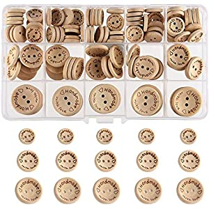 Baby Themed Gift Box Wooden Button Embellishments x 8