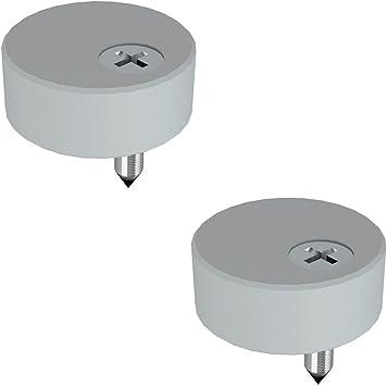 JUBEST 1-5//16in Satin Nickel Spacer Replacement Sliding Barn Door Hardware for Flat Track Set of 5