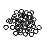 uxcell O-Rings Nitrile Rubber, 5mm Inner Diameter, 8mm OD, 1.5mm Width, Round Seal Gasket Pack of 50