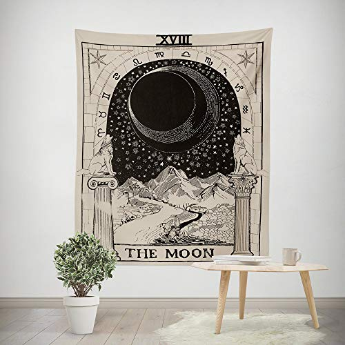 - Euone  Christmas Clearance , Tarot Tapices Tapestry Tunic Tapestry Tablecloth Home Decor 150100CM (D, 150100CM)