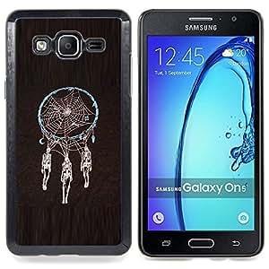 GIFT CHOICE / Teléfono Estuche protector Duro Cáscara Funda Cubierta Caso / Hard Case for Samsung Galaxy On5 O5 // Dream Catcher Death Skull Indian Spider //