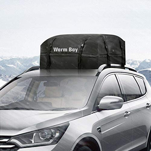 Car Roof Cargo Bag, [2018 Updated] Waterproof Rooftop Cargo Carrier (15 Cf) by Warm Bay (Image #3)