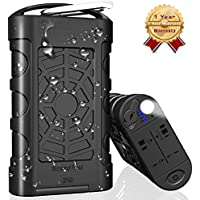 Temdan 10000mAh IP68 Waterproof Power Bank Outdoor Rugged Portable Charger Support Charging Underwater, Built in Flashlight with Lightning Input Fast Charging for iPhone iPad Samsung and More