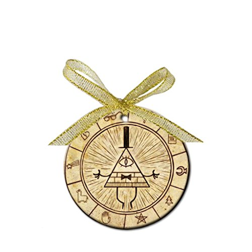 (Gravity Falls Custom Porcelain Christmas Ornament (Round) - ToRocer Round Ornament )