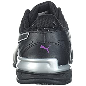 PUMA Women's Tazon 6 Metallic Wn Sneaker, Black-Grape Kiss, 7 M US