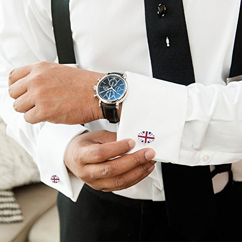 Anfly Official England British Flag Cufflinks lag Wedding Dress Shirts Cufflinks for Men by Anfly (Image #5)