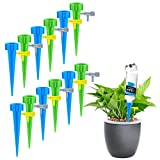 UERMEI Plant Self Watering Spike System(12Pack), Vacation Plant Waterer Drip Irrigation Automatic Watering Devices with Slow Release Control Valve Switch for Potted Plants Indoor&Outdoor