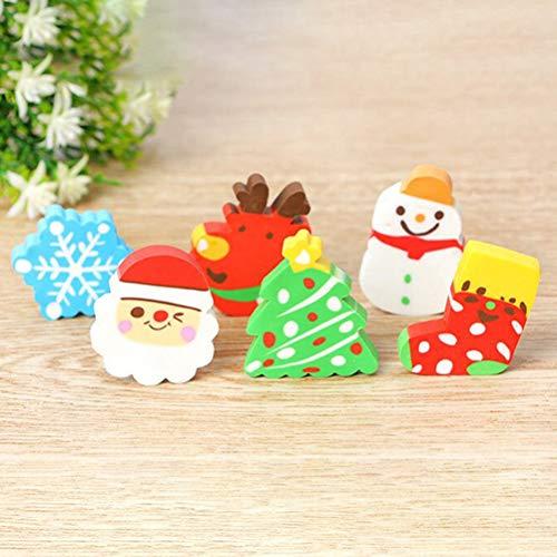 STOBOK 36pcs Christmas erasers for Holiday Kids Students Gift Basic School Supplies (Random Pattern) by STOBOK (Image #1)