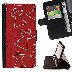 Momo Phone Case / Flip Funda de Cuero Case Cover - Red Angel Feliz Patrón - MOTOROLA MOTO X PLAY XT1562