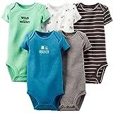 Carter's Baby Boys' 5 Pack Monster Bodysuits (Baby)
