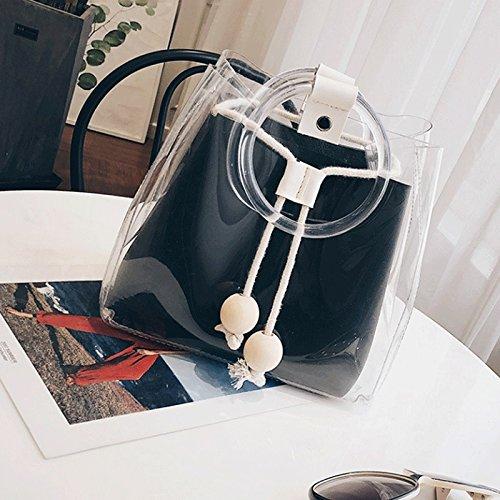 GJ Bolso Crossbody - Paquete de Jelly Femenino Bolsa de Crossbody de la PU Bolsa de Ocio Bolsa de Viaje Bolsos de Señora de Moda (Color : Caqui) Black