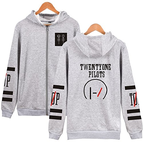 MeTang Unisex Fashion Print Black Hoodie Sweatshirt Jacket Pullover in 5 Colors (Grey, XS)