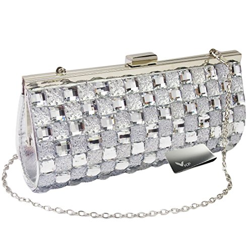 Missy K Bling Rhinestone Evening Party Clutch Purse Bag + Money Clip