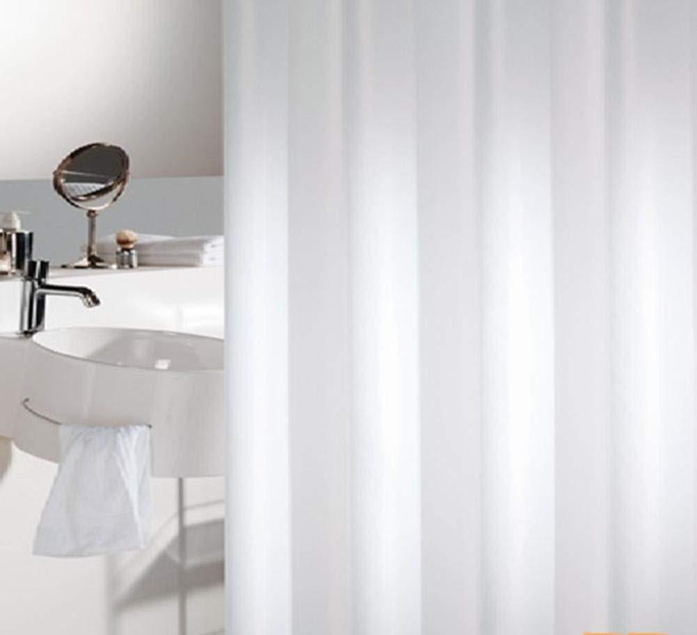 JaHGDU Shower Curtain 1pcs Shower Curtain Waterproof Curtains Polyester Plain White Premium Mildewproof Bathroom Amenities Hotel Toilet Shade Super Quality Bathroom Amenities (Color : 150200cm)