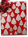 24'' X 100' #x6337 Silver Forest - Gift Wrap Christmas