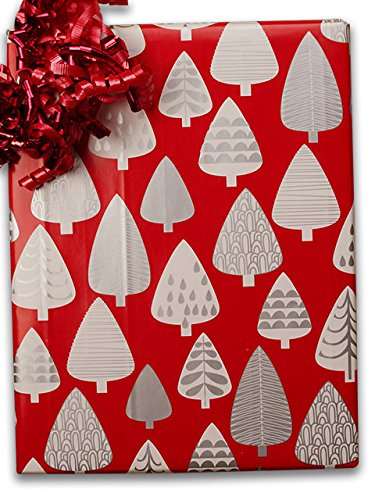 24'' X 100' #x6337 Silver Forest - Gift Wrap Christmas by Paper Mart