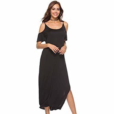 Women's Clothing Fashion Dress Sleeveless Printed Irregular Dress Women Long Shoulder Bag Hip Ruffled Side Swing Side Slit Dress Hot Sale