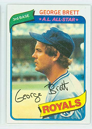 - 1980 Topps Baseball 450 George Brett Kansas City Royals Near-Mint to Mint