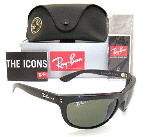 Ray-Ban RB 4089 Balorama 601/58 62mm Black Frame Green Polarized (Ray Ban Farbige Gläser)