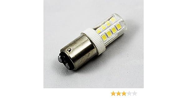 LED BA15D - Bombilla de bayoneta LED para máquina de coser: Amazon.es: Hogar