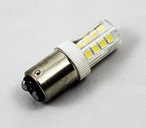 LED BA15D - Bombilla de bayoneta LED para máquina de coser