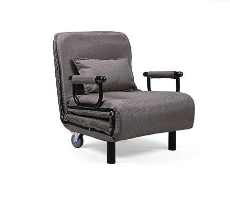 Amazon.com: 25.6inch Lounge Cushion Flip Chair Convertible ...