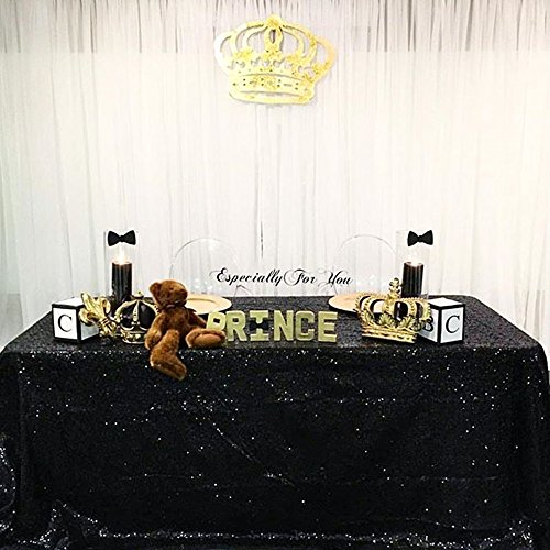 - SoarDream Black sequin tablecloth 60