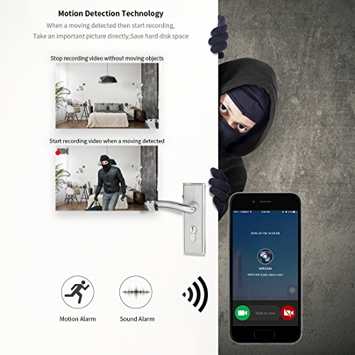 FREDI Mini Robot 960P HD Wireless WiFi IP Camera indoor portable Hidden Spy Security Camera Real-time remote-the clothes is random-(White)
