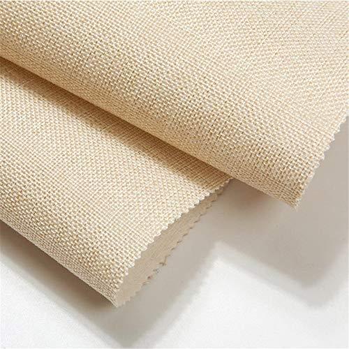 Plain Linen Wall Cloth Seamless Modern Minimalist Wall Cloth Non-Woven Wallpaper Living Room Bedroom Tv Background Wall Cloth 1sp Almond