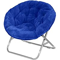 Very Comfortable Mainstays Faux-Fur Saucer Chair (Royal Spice)