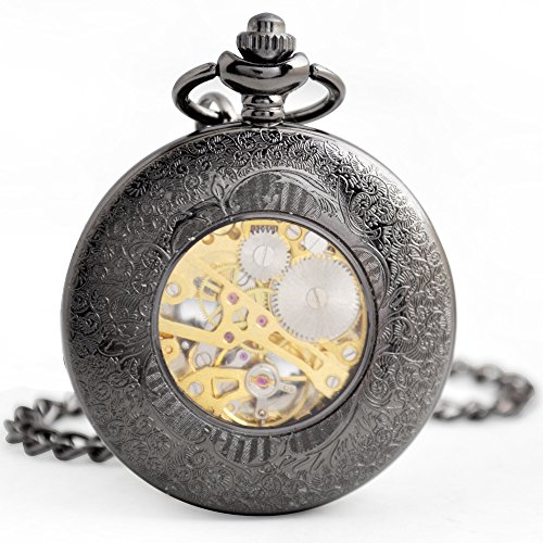 FENKOO Quartz pocket watch Retro clamshell mechanical pocket watch men's business machinery pocket watch dress accessories mechanical watch pocket watches ( Color : 1 ) by FENKOO (Image #3)