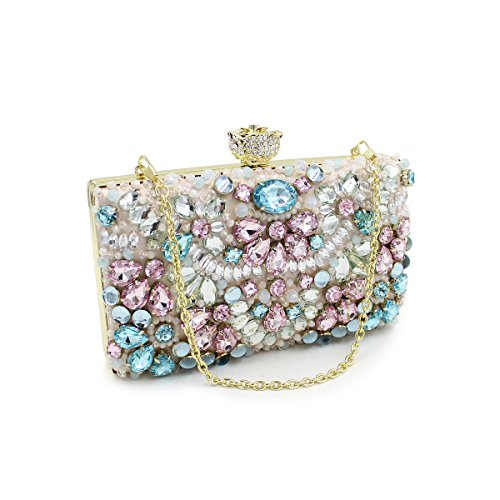 HT Luxury Party Handbag, Poschette giorno donna multicolore Multicolor