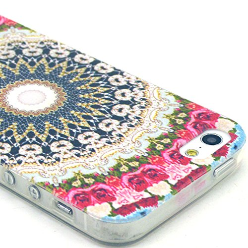 5 Case, iPhone 5s Case LUOLNH a big Flower Clear TPU Silicone Gel Back Cover Skin Soft Case for iPhone 5S 5