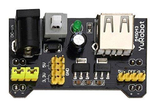 CorpCo MB102 Breadboard Power Supply Module 3.3V/5V For Arduino Board Solderless (6 Powering Module)