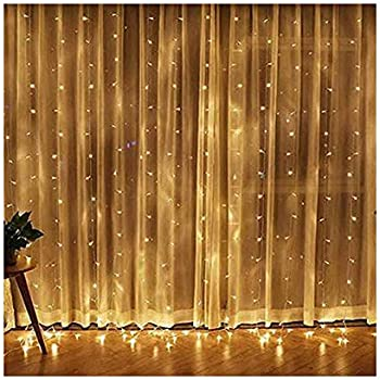 Toysgamer Window Curtain 300 LED String Lights
