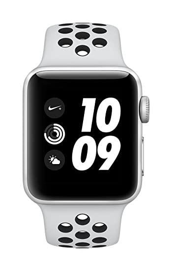 e0371aa2162b Image Unavailable. Image not available for. Colour  Apple Watch Nike+ GPS 38mm  Smart Watch (Silver Aluminum Case ...