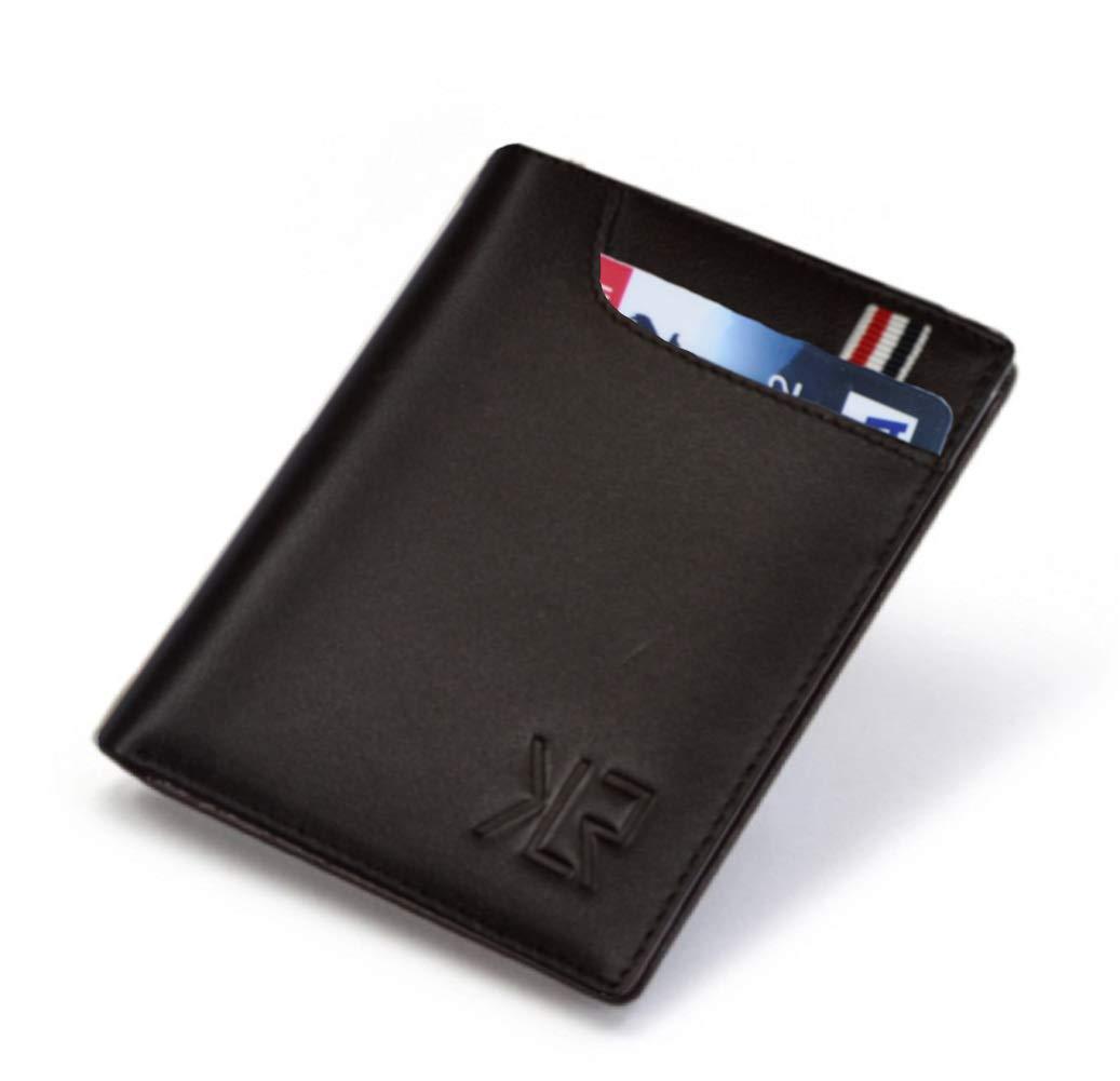 Khaliro Sports Slim Soft Genuine Leather Bifold Men Wallet (Brown)
