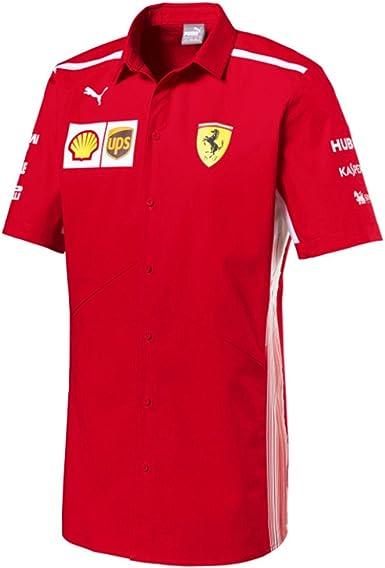 Ferrari Scuderia F1 Racing SF Team Puma Camisa Rojo Oficial 2018