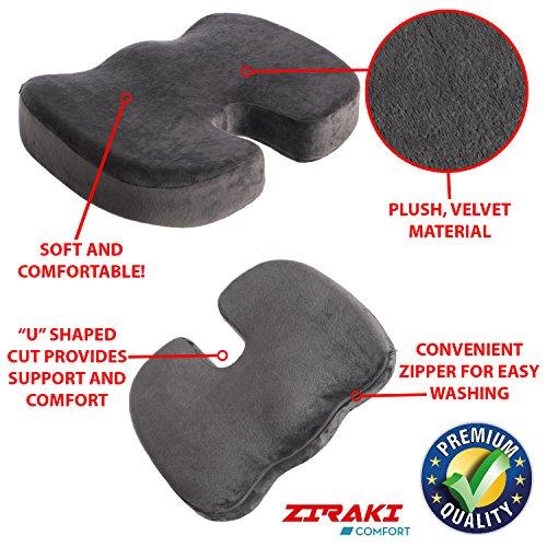 Ziraki Coccyx Orthopedic Memory Foam Seat Cushion Pillow